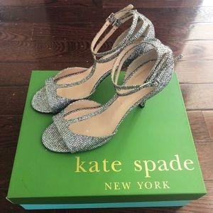 Kate Spade Silver Sparkle Heels